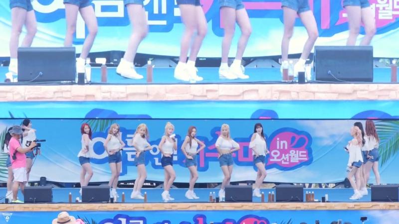 [4K] 170714 우주소녀(WJSN) 전체 - 비밀이야(Secret) @키스미 데이(오션월드)-직캠 By 쵸리(Chori)