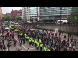 Gestern in Manchester - UK 5000 Patrioten demonstrieren gegen den Islam