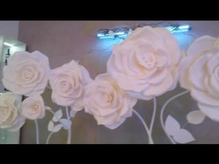 Большие ростовые цветы декоратор Любовь Баринова