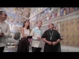 Анаи и Мануэль на открытии Сикстинской капеллы в Тустла-Гутьеррес 3