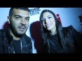 Zaho parle en arabe sur le tapis rouge des NRJ music tour Casablanca le 25.03.2017
