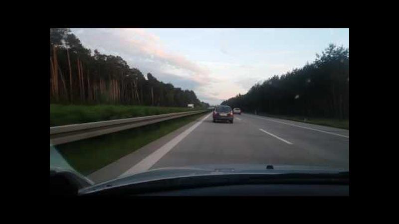 Лада Приора, даги на автобане А6, Германия 14.05.17