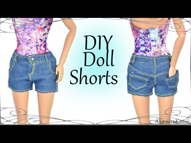 How to Cute Denim Shorts - Doll Fabric Sewing Tutorial