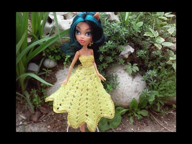 Свяжем солнечное платье монстер хай. We connect solar Dress Monster High.