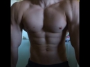 Teen boy flexing and working out his huge pecs ⁄ body