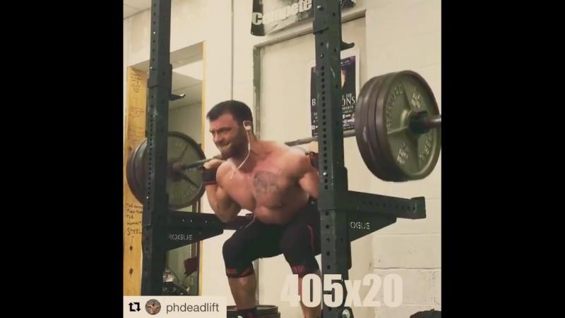 Ben Pollack - raw squat 184 kg x 20 reps