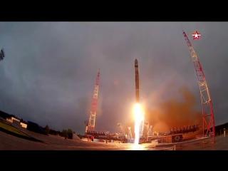 С космодрома Плесецк стартовала ракета-носитель «Союз»