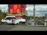 Инсценировка ДТП на жд переезде в Омске (Помните вас ждут дома... )