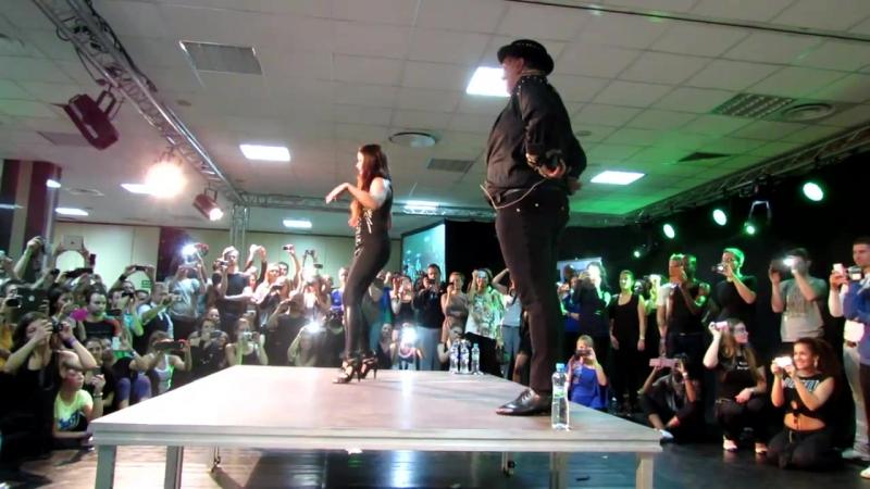 Pachanga class Eddie Torres and Shani Talmor at 8 Warsaw Salsa Festival