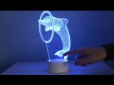 3D Dolphin Lamp - Optical Illusion
