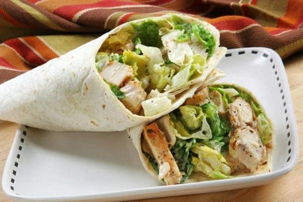 Салат в лаваше рецепт с курицей