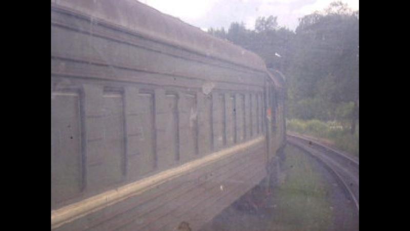 05.07.2008 Вид из кабины тепловоза ТЭП-70, поезд Элисенваара - Выборг