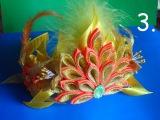 Корона Королева Осени ( Диадема ) ч. 3 Золотая Лилия Мастер класс Канзаши Golden Lily kanzashi