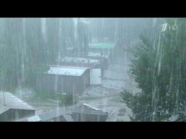 ВоВладикавказе зачас выпала половина месячной нормы осадков, штормовое преду...