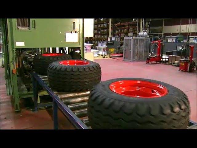 Как делают колеса для спецтехники