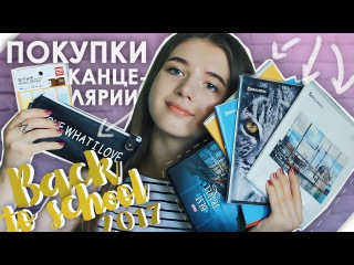 BACK TO SCHOOL 2017 / Покупки КАНЦЕЛЯРИИ к Школе / СНОВА В ШКОЛУ