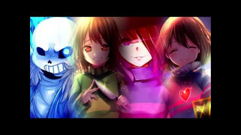 Stronger Than You / Scared of Me Matchup (Frisk, Chara, Sans, Betty)