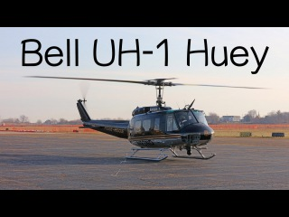 Bell UH-1 Iroquois Huey police rescue helicopter review how to fly a helicopter