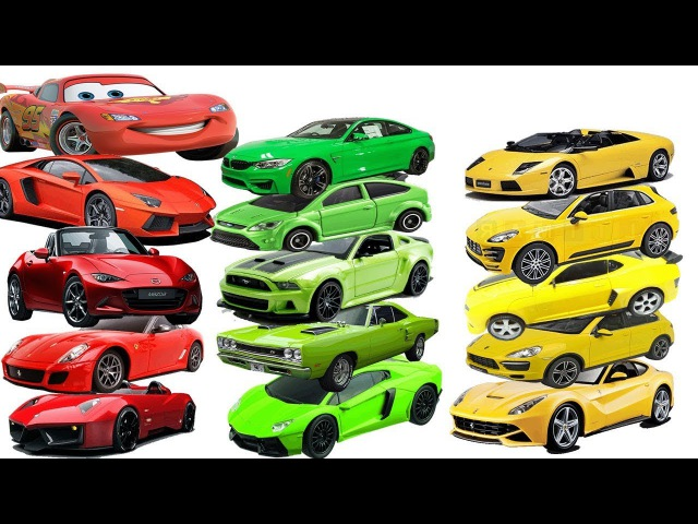 Spiderman do Magic to create many Red Cars, Green Cars, Blue Cars, Yellow Cars, Orange Cars