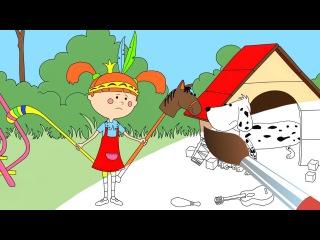 Мультики - Раскраска - Жила-была Царевна - Убери игрушки - Обучающие мультфильмы д...