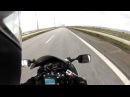 Crossing the Øresund Bridge on the E20 from Sweden to Denmark on my motorcycle