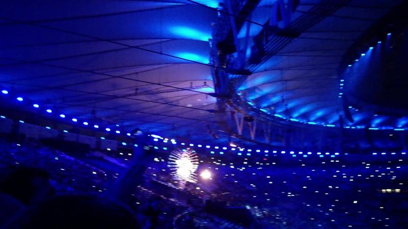 Бразилия. Начало церемонии закрытии летних олимпийских игр 21.08.2016г. Фейерверк!