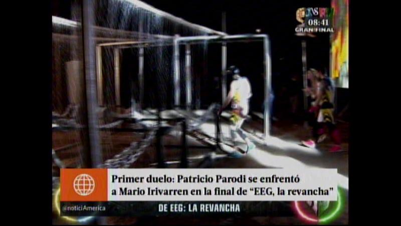 Primer duelo - Patricio Parodi se enfrento a Mario Irivarren en la final de EEG la revancha