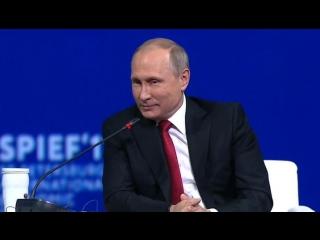 Вторая шутка Путина на ПМЭФ была про Трампа.