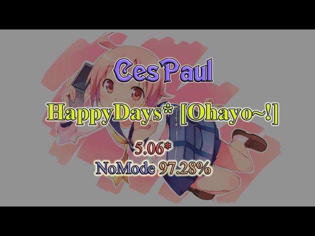 OSU! - Nonohara Yuzuko(CV:Okubo Rumi) - HappyDays* [Ohayo~!]