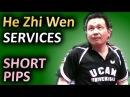 He Zhi Wen с-pen serves technique Slowmotion техника подач китайским пером