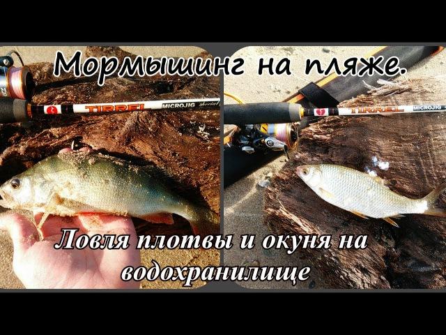 Пляжная рыбалка. Мормышинг на водохранилище. Ловля окуня и плотвы на мормышинг.