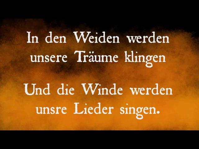 Faun Walpurgisnacht Luna 2014 lyrics on screen