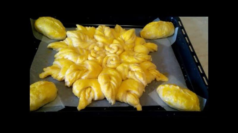 Красивый домашний дрожжевой пирог Pie decoration Идея украшения