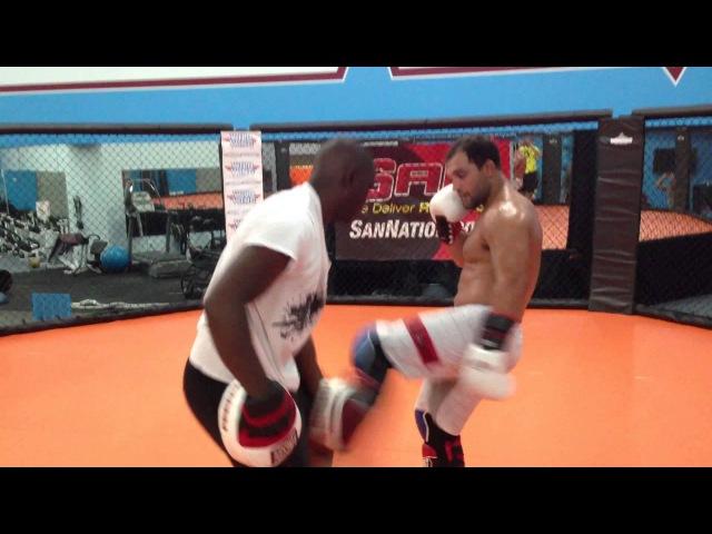 Johny Bigg Rigg Hendricks trains w/ combat sports international ringside gear johny bigg rigg hendricks trains w/ combat sport