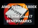 AMD Ryzen 7 1800X vs Core i7 6950X vs Core i7 6900K vs Core i7 7700K vs Core i7 5960X BENCHMARKS