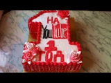 1 Год Каналу на YouTube/Торт YouTube/Торт Единица Мастер Класс/Пошаговый Рецепт Тортика