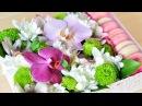 DIY Коробочка с цветами и пирожными Macaron ☆ Подарки на 8 марта
