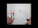 Видеурок по рисованию яблока маркерами от Жени Липатовой