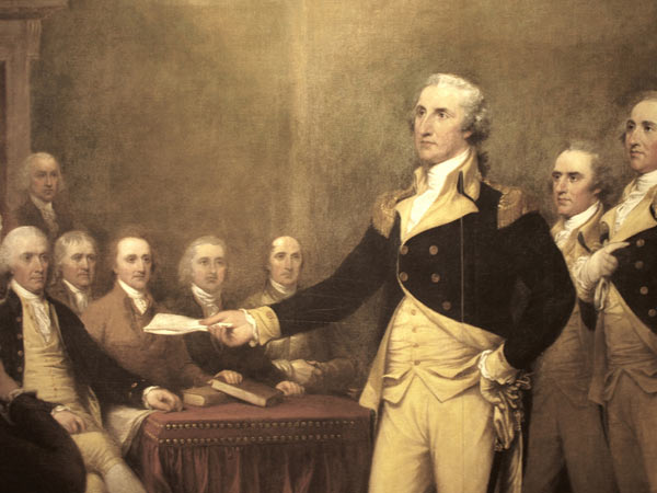 Джорджа Вашингтона, когда он был ещё главнокомандующим