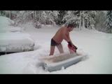 Первый снег в Норвегии