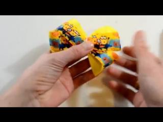 Бантики Миньоны-С помощью шаблонов-Hair Bows Minions -D.I.Y