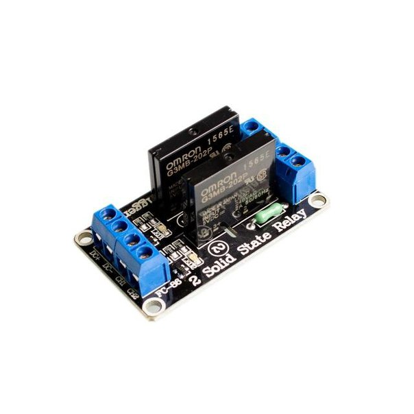 2 Channel Solid State Relay SSR 5V 2A - Arduino Uno