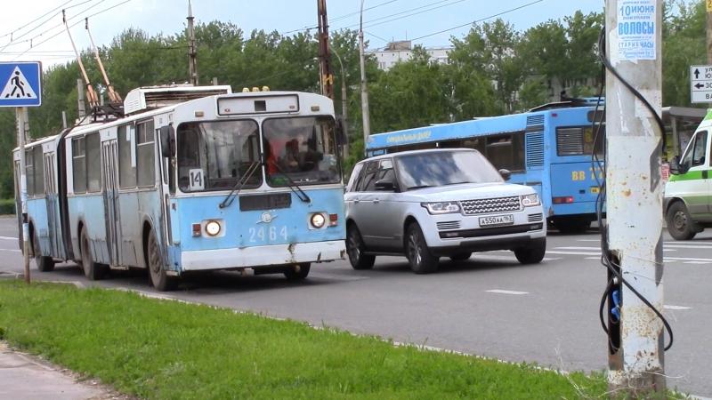 Троллейбус ЗИУ 620520 №2464 маршрут №14 г Тольятти