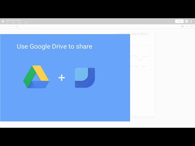 Share reports in Google Data Studio