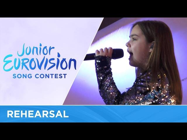 Dunja Jeličić - U La La La (Serbia) Rehearsal Junior Eurovision 2016