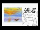 Как нарисовать пейзаж с лодкой пастелью! Dari_Art