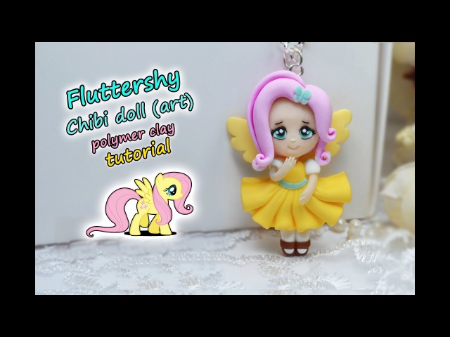 Fluttershy art Chibi doll ✿ Polymer clay Tutorial fimo ✿My little pony