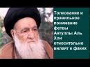 Толкование и правильное понимание фетвы Аятуллы Аль Хои относительно вилаят е ф...