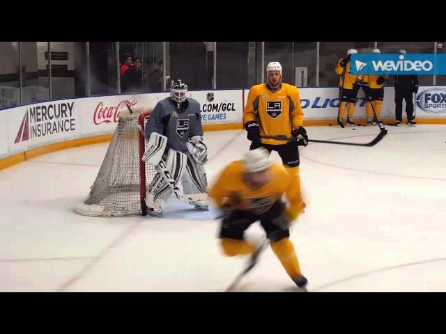 Jhonas Enroth LA Kings Practice October 17th 2015