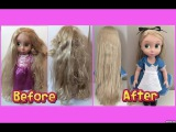 HOW TO FIX DOLL HAIR - restore tangled, frizzy, messy doll hair